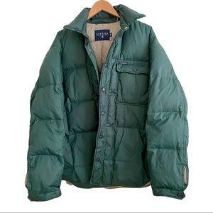 Nautica Men's Green Winter Puffer Coat Jacket Size Large
